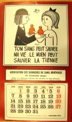les calendriers de l'amicale de Coursan (Aude)