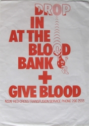 drop in at th blood bank