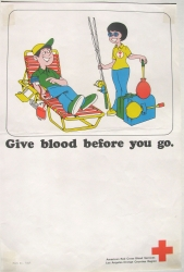 give blood before you go