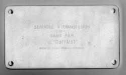 "seringue à transfusion sang pur de ""DUFFAUD"""