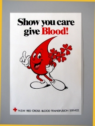 Show you care give blood