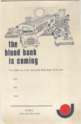 the blood bank is coming