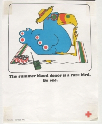 the summer blood donor is a rare bird