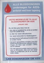 vigtig meddeelse til alle bloddonorer om aids