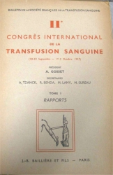 IIè congrès intenational de la transfusion sanguine